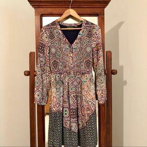 Maeve printed dress